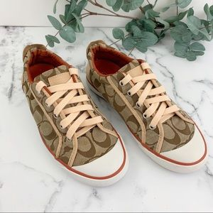 COACH Barrett Canvas Sneakers Sz 6.5